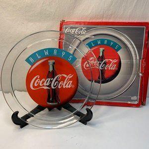 VTG 5533 Coca Cola1993 Glass Serving Tray Platter